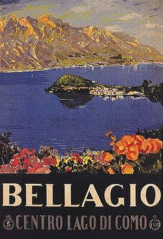 'Italy Bellagio Lake Como vintage Italian travel advert' Poster by aapshop Retro Poster, Poster Vintage, Vintage Travel Posters, Vintage Ads, Poster Poster, Lake Como, Vintage Italian Posters, Comer See, Kunst Poster