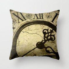 Housse de coussin, Steampunk horloge Photo oreiller, coussin Steampunk, Goth horloge coussin décoration salle de séjour, chambre Decor, 16 x 16 18 x 18 20x20