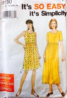 Simplicity 8190 UNCUT Misses Dress by Lonestarblondie on Etsy