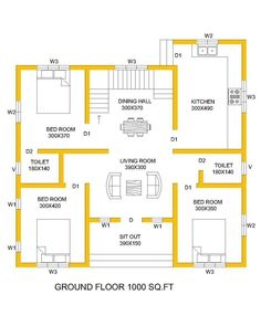 Vishal pal architecture and perfect interiair Digain project house plans 2bhk House Plan, Three Bedroom House Plan, Model House Plan, Duplex House Plans, House Layout Plans, Family House Plans, 20x30 House Plans, Free House Plans, Simple House Plans