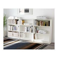 IKEA - BILLY, Bookcase, white, 240x106x28 cm, , Adjustable shelves can be arranged according to your needs.
