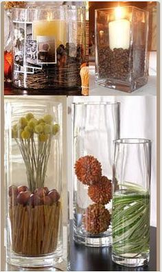 Centerpiece (vase) ideas for fall.