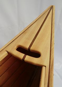 Wooden lapstrake canoe handcrafted from by WoodpeckerDesignShop