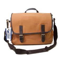 Organic Waxed Canvas Messenger Bag from United By Blue. For each product they sell, UBB removes one pound of trash from oceans and waterways!