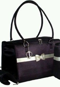New designer black pet dog cat carrier pet purse lulu jane