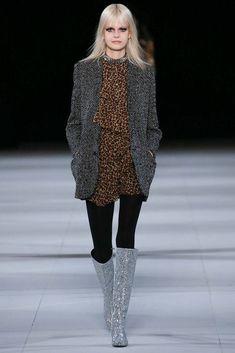 Janaes Style Saint Laurent.  Leopard and glitter sequins