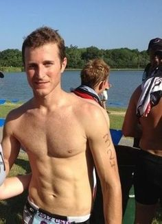 Kasey Kahne - He has to come to the party dressed (or not dressed) just like this!!