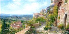 Village Panorama 60x120 Painting #antoniettavarallo