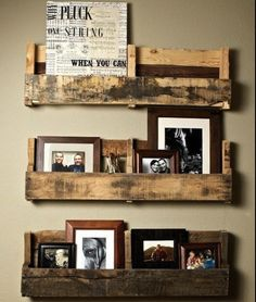 Shelf ideas for home | repurposed pallet wood