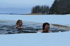 Avantouinti (Ice Hole Swimming)