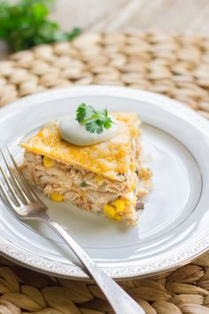 Southwestern Chicken Taco Pie - Lovely Little Kitchen