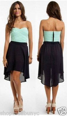 Chiffon black and blue dress