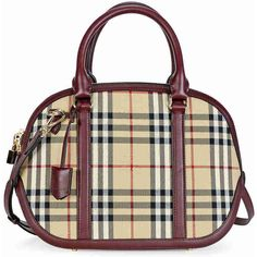 Burberry The Small Orchard Bowling Bag - Honey Claret ( 899) ❤ liked on  Polyvore featuring bags d1e1af8930610