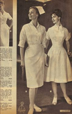 Nursing Friends: Remember these? Sears Fall/Winter 1960 catalog nurses' uniforms. #nurses #HealthCarePros