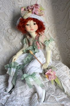 Makiko in new wig from Margaret | Meadowdolls
