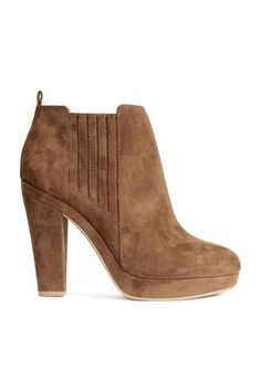 ddab1ab2cd8 Ankle boots in imitation suede with a small platform and covered