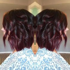 Image result for black and burgundy balayage