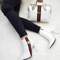 Today we are going to make a small chat about 2019 Gucci fashion show which was in Milan. When I watched the Gucci fashion show, some colors and clothings. Gucci Fashion Show, Fashion Bags, Fashion Shoes, Womens Fashion, Fashion Outfits, Bootie Boots, Shoe Boots, Shoes Heels, Cute Shoes