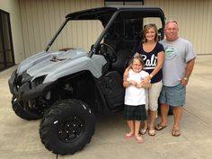 Congratulations to Kaylee, Dannielle and Bryan Neth from Robertsdale, AL for purchasing a 2018 Yamaha Viking EPS at Hattiesburg Cycles. #yamaha