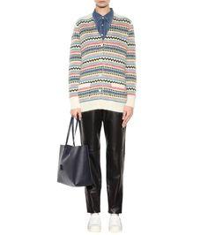 Saint Laurent - Leather shopper   mytheresa.com