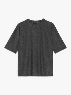 t-shirt brando manche coudes noir en jersey brillant | agnès b. T Shirts For Women, Collection, Fashion, Sleeve, Black People, Moda, Fashion Styles, Fasion
