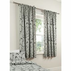 Beautiful Birds/Bird Animal Toile Grey/Charcoal Print Curtains 66 x 72 Inch BNIP Bird Curtains, Printed Curtains, Grey Curtains, Bedroom Curtains, Bird Bedroom, Interior Design Courses, Woman Cave, Bed Spreads, House