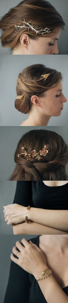 3D printed accessories by Collected Edition // Etsy gifts // wedding accessories // wedding hair inspiration