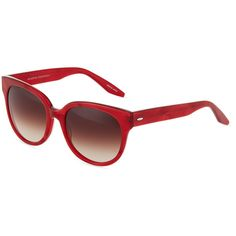 Barton Perreira Valley Girl Modified Cat-Eye Sunglasses (€125) ❤ liked on Polyvore featuring accessories, eyewear, sunglasses, red, uv protection sunglasses, cat eye glasses, studded sunglasses, red plastic glasses and red sunglasses