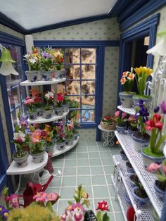Inside the flower shop in 1/12 scale by KarenLadminis