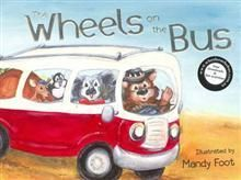 Australia - The Wheels on the Bus  In this edition, a cheeky wombat bus driver drives his animal passengers around Australia. Come snorkelling with the emu at the Great Barrier Reef. Get rescued by a surf-lifesaving koala at Bondi Beach. And sing ever so quietly as the bus crosses a river full of crocodiles in Darwin...Brought to life by Mandy Foot's delightful illustrations, young children will adore this sing-along adventure!