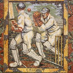 Today for #MuseumWeek we are celebrating sport in art for #SportMW. Have you ever noticed these scenes of people playing cricket and football on the floor of our Portico entrance?  Set into the floor of the first landing in the Gallery is 'The Awakening of the Muses', a marble mosaic laid in 1933 by the Russian-born artist Boris Anrep (1885-1969). Between 1928 and 1933, the National Gallery commissioned Anrep to lay two mosaic pavements in the vestibule of the Main Hall to illustrate 'The…