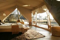 part of me wants to live in a tent - like this