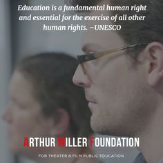 #Education is a fundamental human right and essential for the exercise of all other  human rights. –United Nations Educational, Scientific and Cultural Organization @UNESCO #HumanRights #PublicSchoolProud #ArtsEd visit arthurmillerfoundation.org