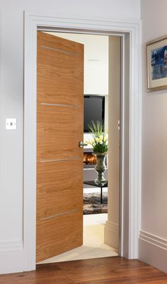 Alu 9500 Oak Bespoke Door
