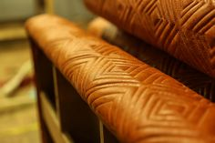 Some rather impressive #diamond #feature #stitch detailing on this #restaurant #banquette #seating
