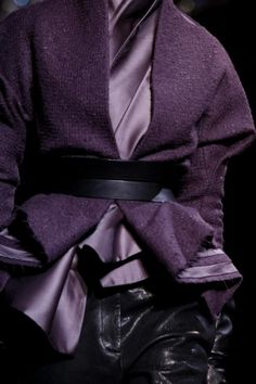 In the hands of another, fear. In the hands of Haider Ackerman, FIERCE! A/W 2012 #ABOUTORA