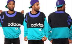 Vintage Adidas Colourblock Sweatshirt