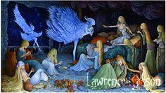 """""""L'agape féerique"""" An illustration from """"La République Invisible"""". French translation of the Reverend Kirk's book (Elf-shot éditions) about Fairie's culture. Medium : Acrylic"""