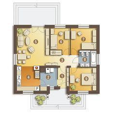 Projekt domu Ares - wariant B - Dom Dla Ciebie My House Plans, House Layout Plans, House Layouts, Bungalow House Design, Modern House Design, Cottage Exterior, Design Case, Building A House, Beautiful Homes