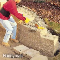 How to Build a Concrete Block Retaining Wall | An, All. and Level