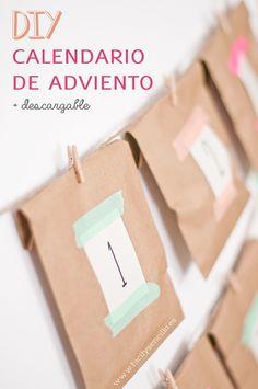 DIY · CALENDARIO DE ADVIENTO + DESCARGABLE - Fácil y Sencillo | Fácil y Sencillo