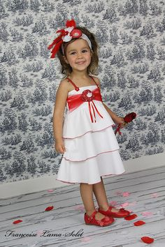 Simple white with red dress