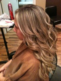Full foil from brown to blonde and style by Whitney Renee' Anderson    http://www.facebook.com/BellaHairandMakeup