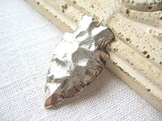 Arrowhead Necklace, Sterling Silver Necklace by MySweetNomsa on Etsy