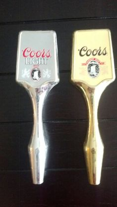Set of Two Vintage Coors Beer Tap Handles by TapHandlesUntapped, $30.00