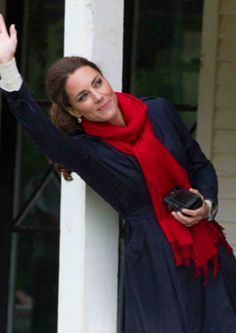 The Duchess of Cambridge wearing Pickett pashmina stole