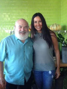 """""""I like sprouting mung beans"""" said Andrew Weil, MD at True Foods Kitchen in Newport Beach, CA 11/6/14 with Monica Cohen"""