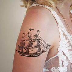 Vintage ship temporary tattoo                                                                                                                                                     More