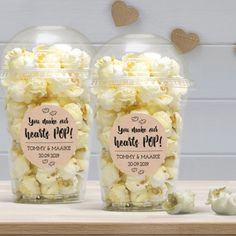 Popcorn Wedding Favors, Wedding Shower Favors, Wedding Gifts For Guests, Wedding Favors Cheap, Wedding Thank You, Popcorn Bar, Cute Teacher Gifts, Birthday Packages, Pop Baby Showers