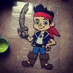 Jake and the Never Land Pirates perler beads by ashleynicol3